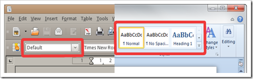 Comparison of OpenOffice.org and Microsoft Office 2010 Beta