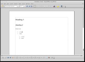 OpenOffice.org Writer - Pretty